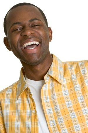 lachendes gesicht: Lachender Afrikanischer Amerikanischer Mann Lizenzfreie Bilder