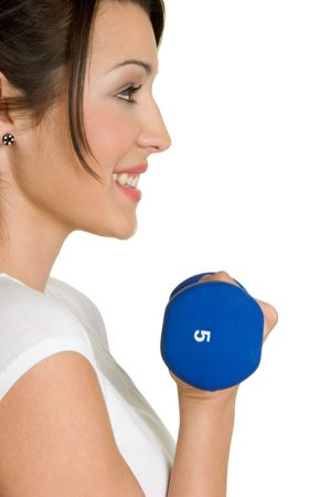 Smiling Workout Girl Stock Photo - 2966737