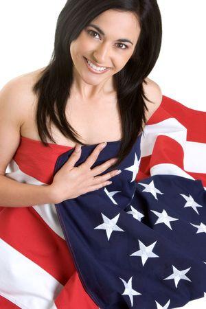 Beautiful Flag Girl Stock Photo - 2814143