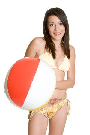 beach ball girl: Muchacha De la Bola De Playa