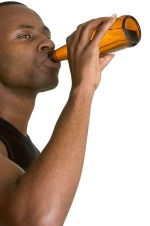 Drinking Man Zdjęcie Seryjne