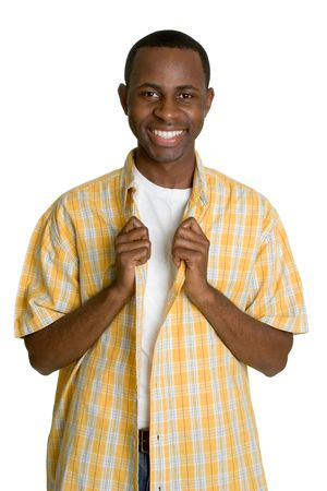 happy african: Smiling African American Man