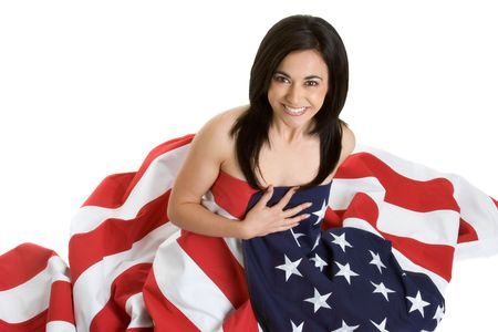 American Flag Woman Stock Photo - 2912711