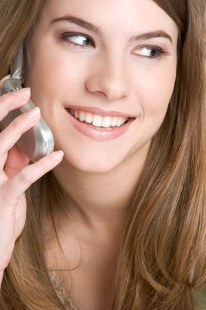 Young Woman on Phone Stock Photo - 3052251