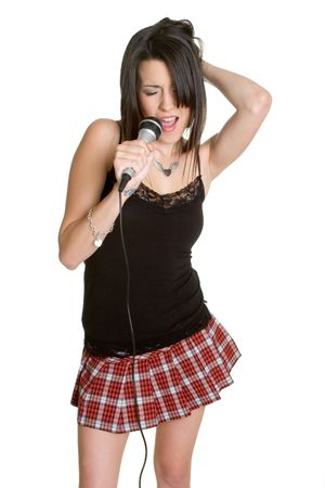 kareoke: Karaoke Girl Singing