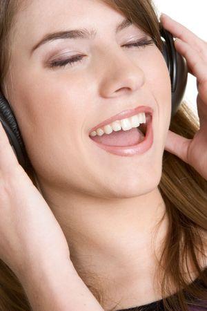 Headphones Girl Stock Photo - 2980999