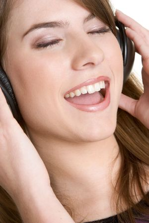 Headphones Girl Stock Photo - 2980999