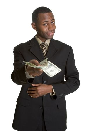 offering: Businessman With Money Stock Photo