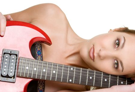 rocker girl: Teenage guitarra Chica