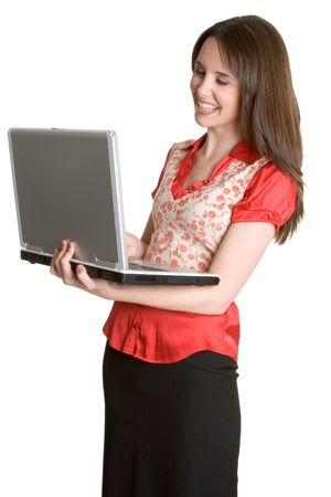 Laptop Businesswoman Stock Photo - 2981026