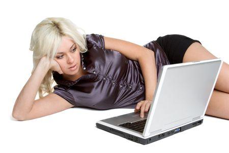 Teen on Laptop Stock Photo - 3052228