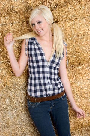 Blond Cowgirl photo