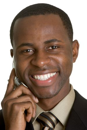 Smiling Phone Man Stock Photo - 3052257