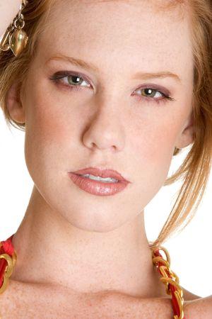 stares: Beautiful Redhead