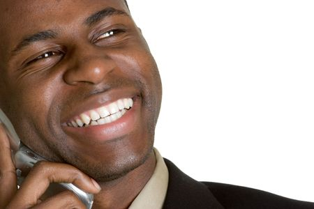 mobile telephones: Laughing Businessman on Phone