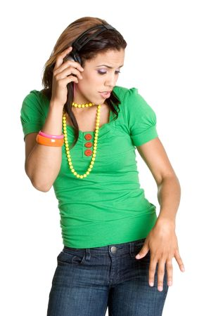 Teen Girl Listening to Music Stock Photo - 3059446