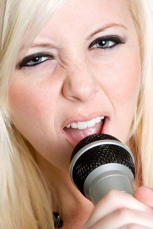 Singing Teen Girl Stock Photo