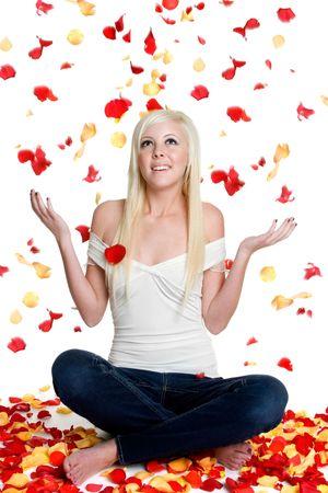Flower Petal Girl Stock Photo - 3083917