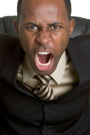 Angry Businessman Stock Photo - 3083919