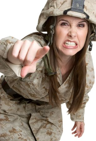 Angry Marine Woman photo
