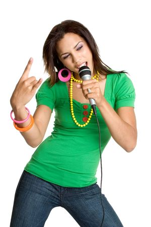 kareoke: Woman Rocking Out