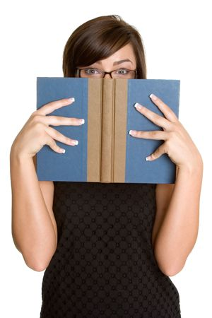 Pretty Book Woman Stock Photo