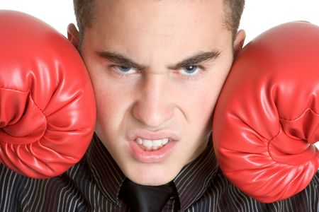 Angry Boxer Stock Photo - 3107363