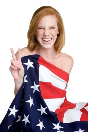 Laughing American Woman photo