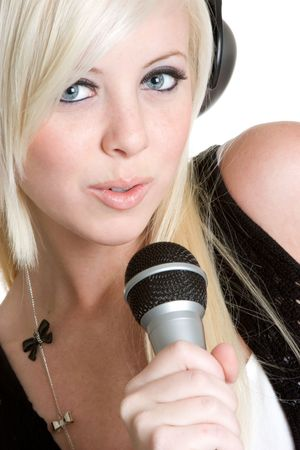 rockstars: Singing Teen Stock Photo