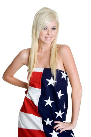 Blond American Girl photo