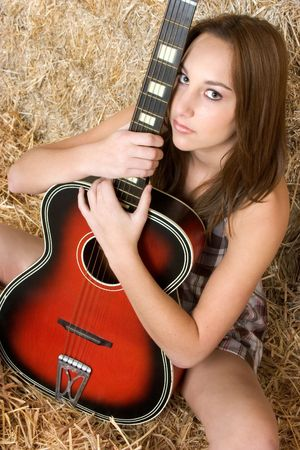 Teen With Guitar photo