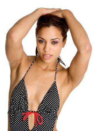 bathing women: Swim Suit Woman Stock Photo