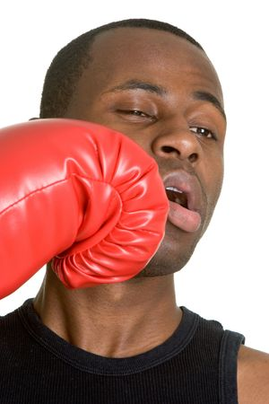 knock out: Knock Out Man Stock Photo