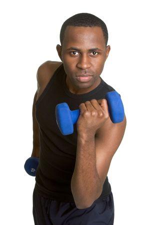 lifting hands: Fitness Man