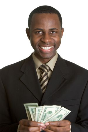 gastos: Businessman Holding Money
