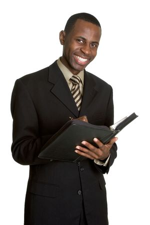 Businessman With Daily Planner photo