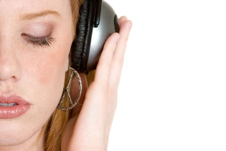 Lady Listening to Music photo