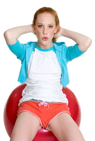 Woman Doing Sit Ups Stock Photo