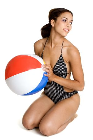 woman bathing: Summer Fun Stock Photo