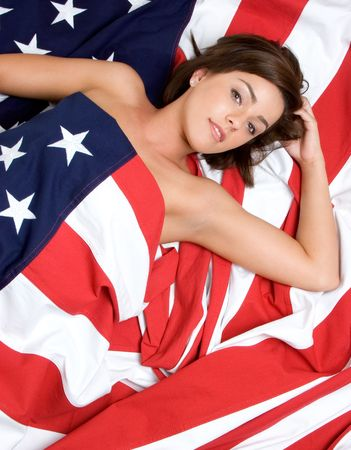 American Woman Stock Photo - 3136284