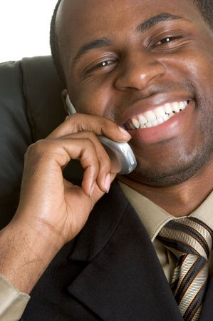 Businessman on Cell Phone Stock Photo - 3182563