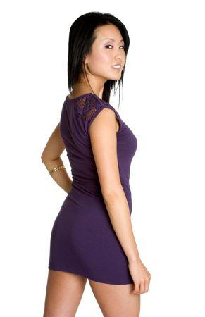 poses de modelos: Hermosa mujer de Asia  Foto de archivo