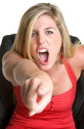 Yelling Businesswoman