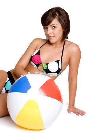 beach ball girl: Beach Ball Girl  LANG_EVOIMAGES