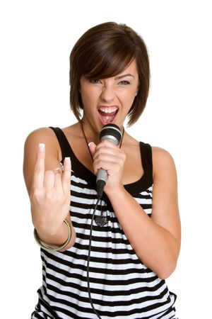 kareoke: Rocker Chic Stock Photo