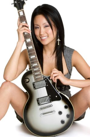 rockstars: Woman With Electric Guitar