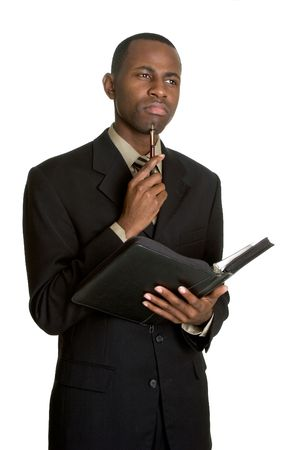 Thinking Businessman Stok Fotoğraf