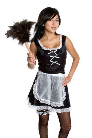 maid: Hispano franc�s de mucama  Foto de archivo