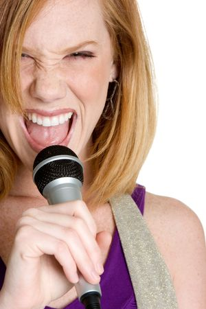 Woman Singer Stock Photo - 3208518