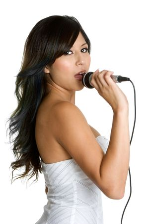 Singing Latina Woman Stock Photo - 3208527